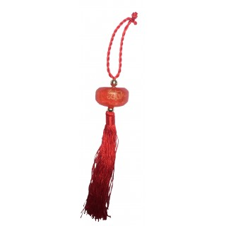Islamic Car Hanging- Red colored, Glass material