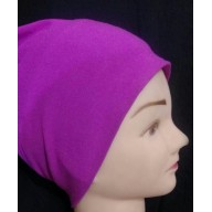 Hijab bonnet cap - Purple in jersy fabric