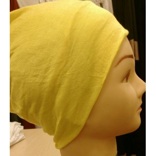 Jersey Hijab Band - Yellow colored