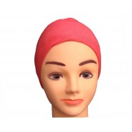 Under scarf - Rose Red colored hijab cap in jersey fabric