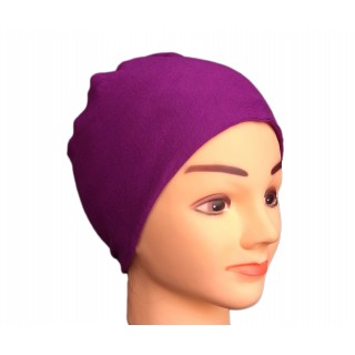Hijab cap - Jersey under scarf in violet color