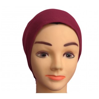 Under scarf - Maroon colored hijab cap in jersey fabric