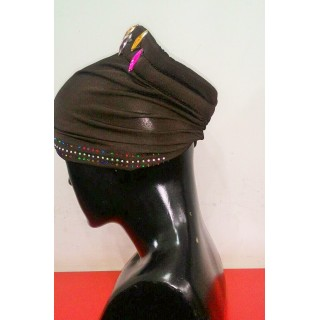 Cotton Hijab Bonnet Cap-Brown