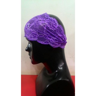 Lace Hijab Band-Purple