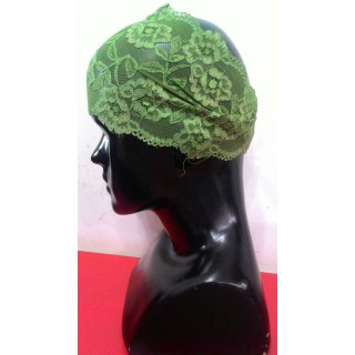 Lace Hijab Band-Green