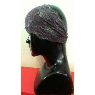 Lace Hijab Band-Purple & Green