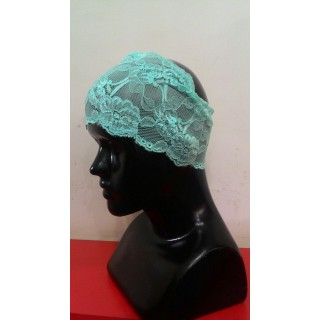 Lace Hijab Band-Sky blue