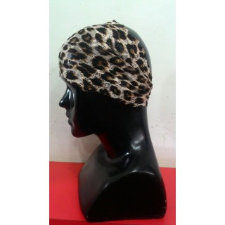 Lace Hijab Band-Tiger print