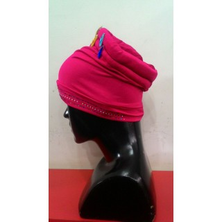 Cotton Hijab Bonnet Cap-Pink