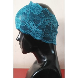 Lace Hijab Band-Deep sea Green