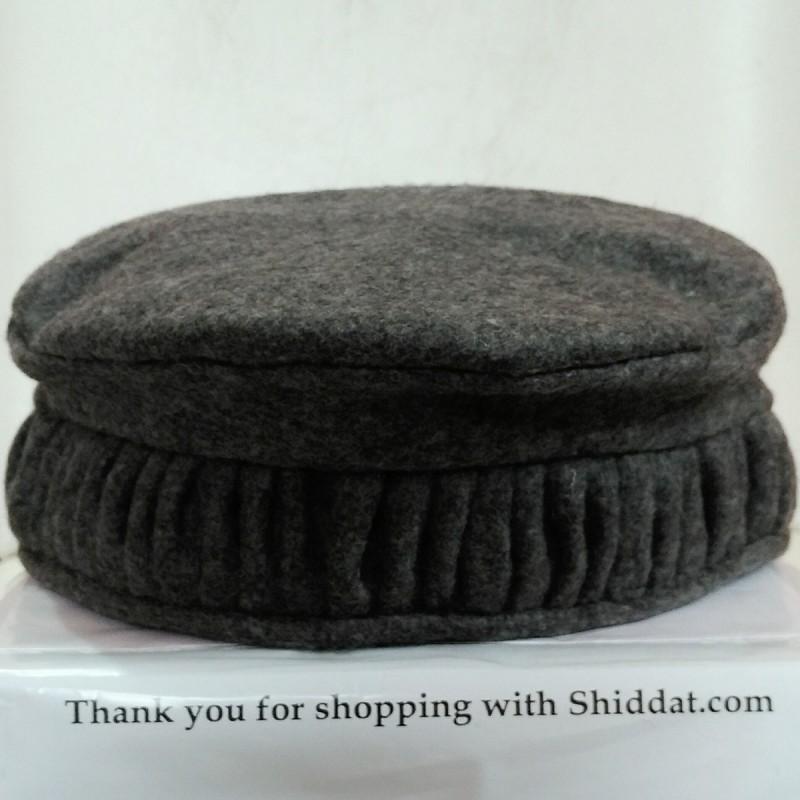 Afghani Pakol Hat- Designer Afghan Hat Dark Gray colored Pakol cc52ae99858