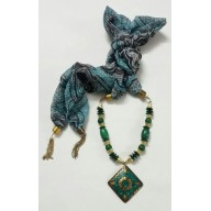Scarf Jewelry-Green