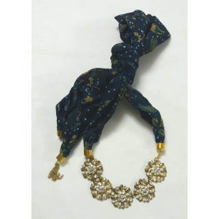 Scarf Jewelry-Navy Blue