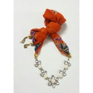 Scarf Jewelry-Orange