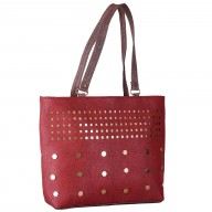 Ladies designer handbag - Maroon