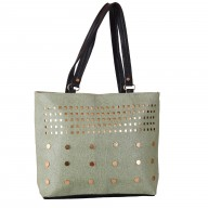 Ladies designer handbag - Silver color