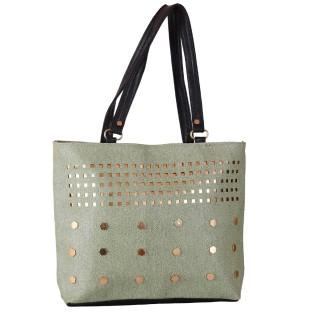 Ladies designer handbag - Silver color