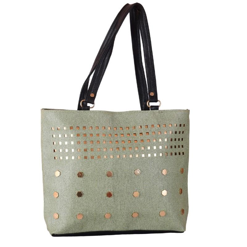 cefd97307403 Ladies Handbags online in India- Silver color PU fabric women's handbag.