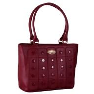Women's designer handbag - Maroon color