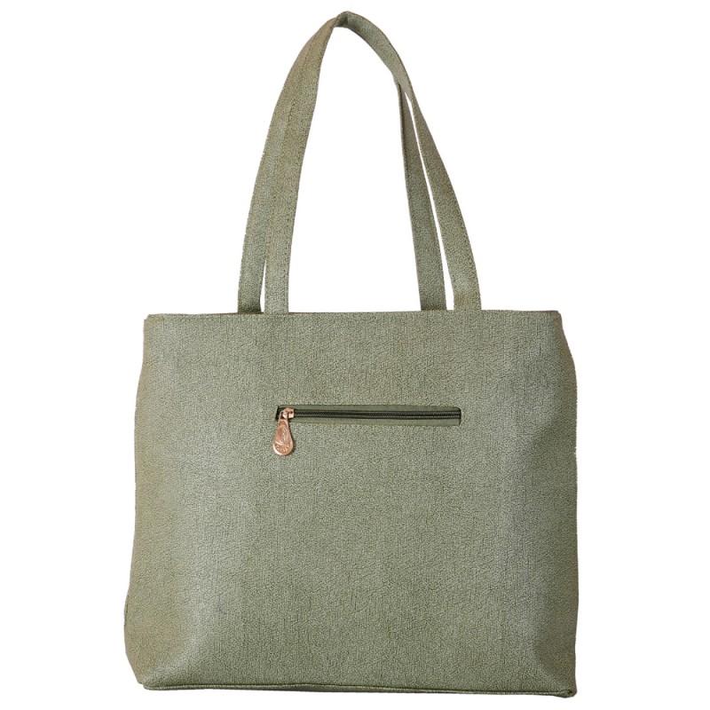ebce25d03cd8 Ladies Handbags online in India- Grey color PU fabric women's handbag |.