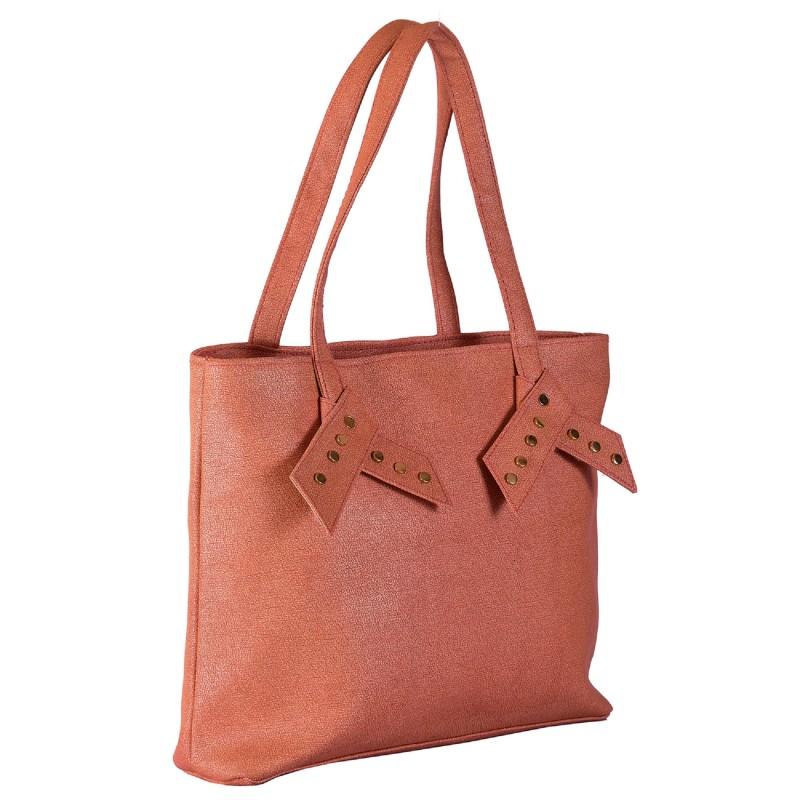 72b489ab23ec Ladies Handbags online in India- Pink color PU fabric women's handbag |.
