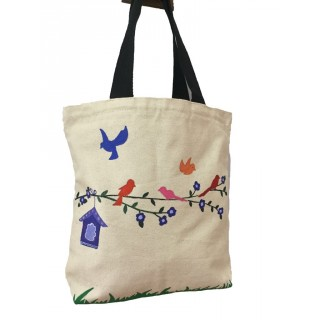 Ladies tote bag- Multicolor Birds