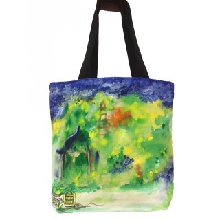 Ladies tote bag- Canvas painted