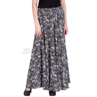 Long skirt- Mix print