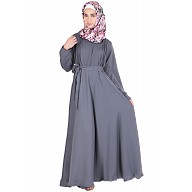 Grey large flare Wintex Abaya - Nidha fabric