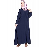 Shirt dress abaya - Navy blue