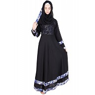 Abaya- Black umbrella cut