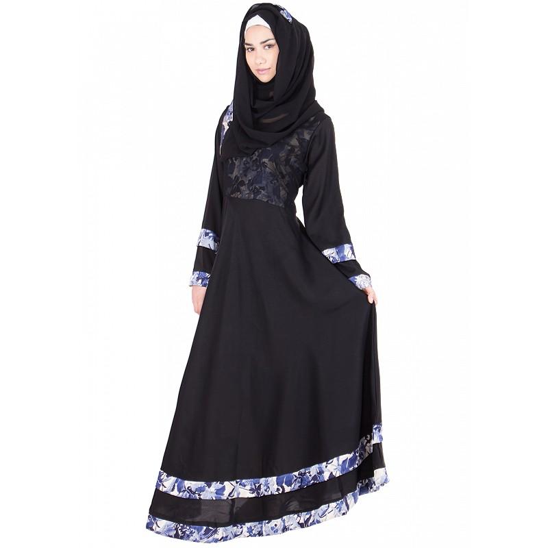 Abaya Black Umbrella Cut Burqa Online Nida Fabric