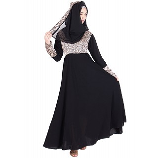 Abaya- Gown style in black colored