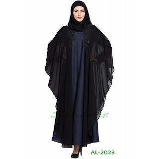 Designer Kaftan abaya with patchwork