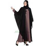 Kaftan abaya with patchwork
