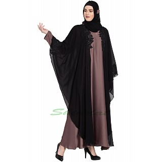 Kaftan abaya with patchwork