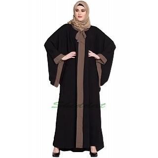 Kaftan abaya in Afghani style- Black