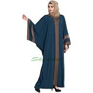 Kaftan abaya in Afghani style- Blue color