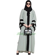 Kaftan abaya in Afghani style- Sea Green