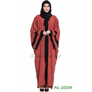 Afghani Kaftan abaya- Rust color