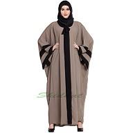 Kaftan abaya in Afghani style- Beige color