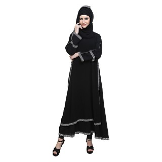 Double layered abaya- Islamic dress for women