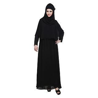 Double layered cape style burqa
