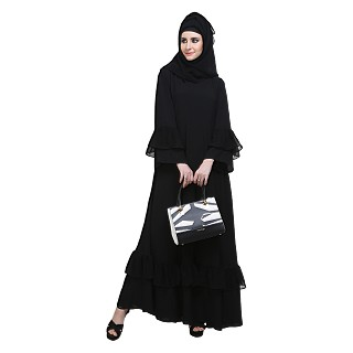 Burqa with frills