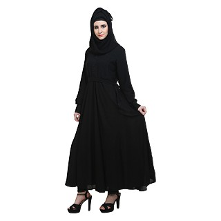 Simple large flared abaya
