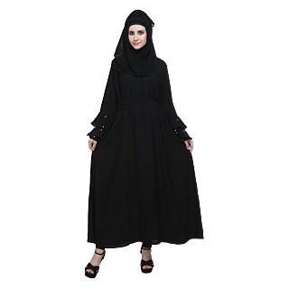 Flared abaya with designer sleeves