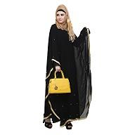 Bridal kaftan style abaya- Black