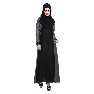 Flared abaya with side belts