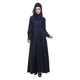 Flared Abaya- Navy Blue