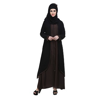 Abaya- Front open double layered